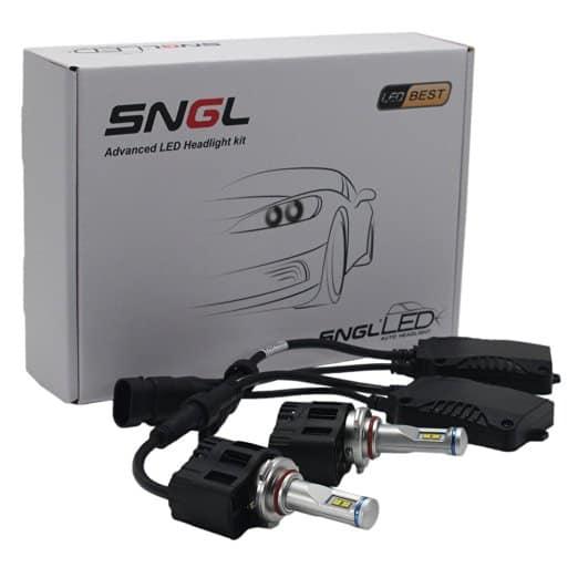 SNGL® Super Bright LED Headlight Bulbs - Adjustable Focus Length Conversion Kit - 9005 (H10 , HB3 , 9145) - 110w 10,400Lm 6000K Cool White - 2 Yr Warranty
