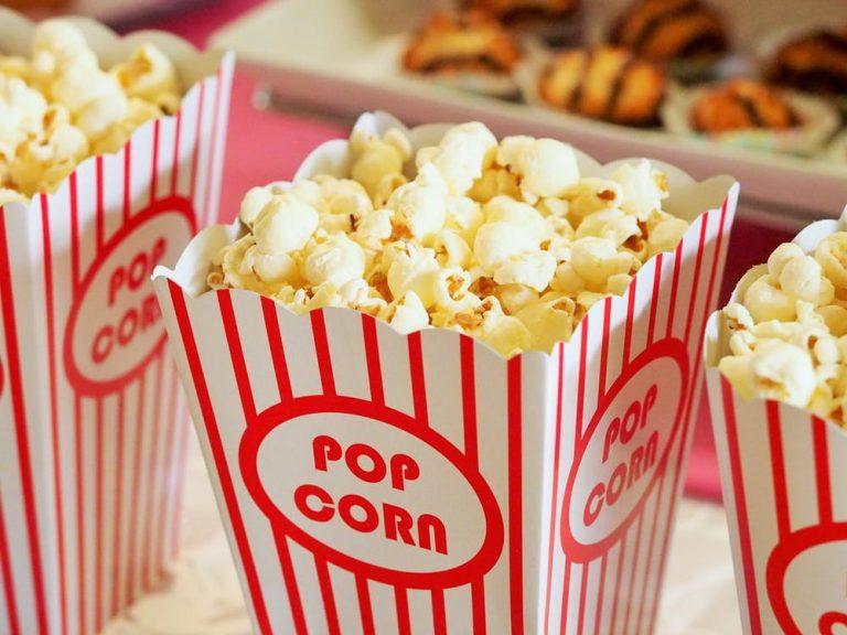 Snack at a movie theatre