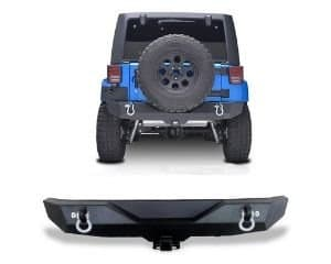 AUTOSAVER88 Rock Crawler Rear Bumper for Jeep Wrangler JK and Unlimited