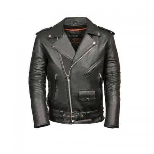 black motorcycle leather jacket colored black
